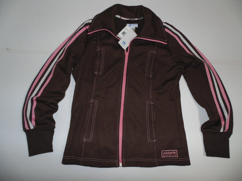 Adidas Safety Originals brown track jacket ladies medium UK size 14 - DLJ012-Classic Clothing Crib