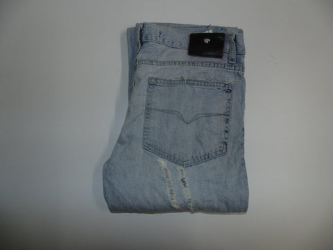 "Versace Couture distressed blue denim jeans W 30"" x L 34"" ladies IT44 DLB0501"