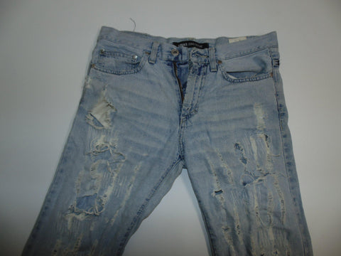 "Versace Couture distressed blue denim jeans W 30"" x L 34"" ladies IT44 DLB0504"