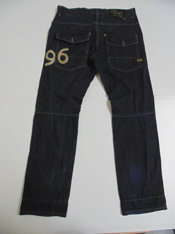 "G-Star 96 Elwood 10 indigo denim jeans W 32"" x L 32"" mens DLB150-Classic Clothing Crib"
