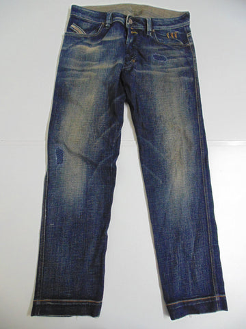 "Diesel Bumics dark blue sandwashed denim jeans w 32"" x L 31"" mens DLB226"