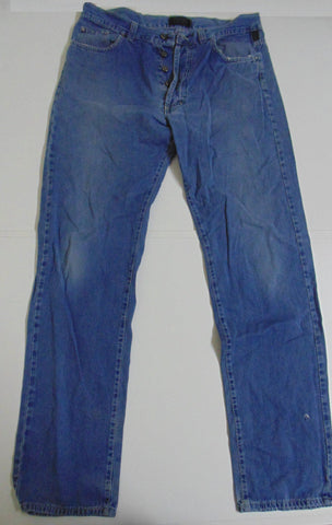 "Versace Couture blue soft cotton jeans w 38"" x L 34""  mens IT52 DLB105"