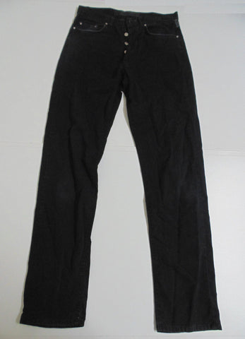 "Versace Couture black trousers denim jeans w 32"" x L 34""  mens IT 46  LL01 BLJ037"
