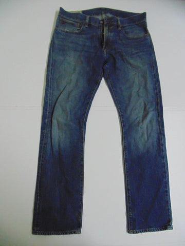 "Ralph Lauren blue denim jeans w 34"" x L 32"" mens VA RICK SLIM STRAIGHT DLJ166"