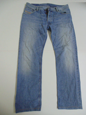 "Diesel Zavor light blue denim jeans w 36"" x L 33"" mens DLJ196"