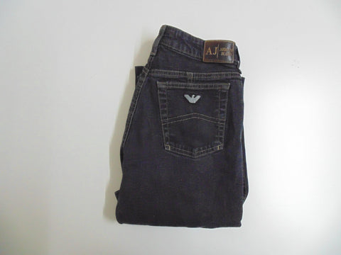 "Armani black denim jeans size 8, waist 26"" Ladies DLB2721"