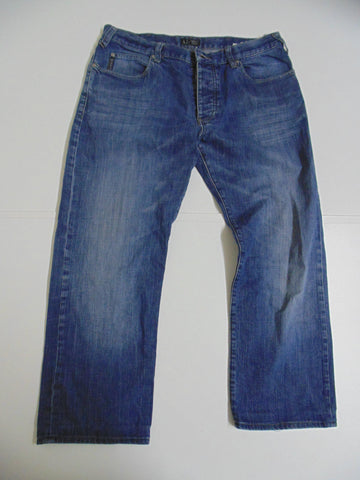 "Armani dark blue denim jeans W 34"" x L 26"" mens indigo comfort fit DLB2716"