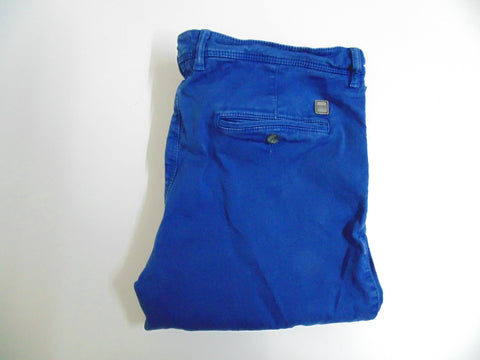 "Hugo Boss Crigan 2-D royal blue stretch cotton trousers jeans W 34"" x L 31"" mens IT 50 DLB2661"
