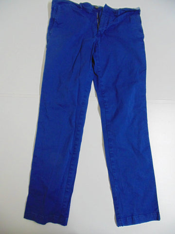 "Hugo Boss Crigan 2-D royal blue stretch cotton trousers jeans W 34"" x L 31"" mens IT 50 DLB2666"