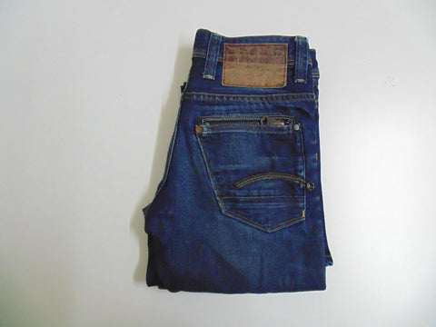 "G-Star Raw 01 5204 dark blue denim jeans size 8, waist 26"" Ladies DLB2651"