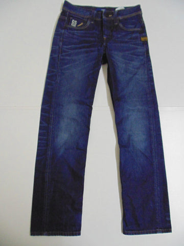 "G-Star Raw 01 5204 dark blue denim jeans size 8, waist 26"" Ladies DLB2656"