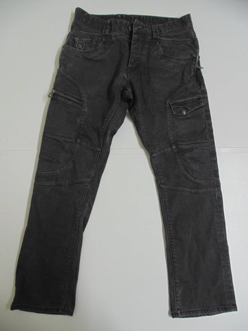 "Police 883 Havana R faded black denim jeans W 32"" x L29 "" mens Stretch fit DLB260-Classic Clothing Crib"