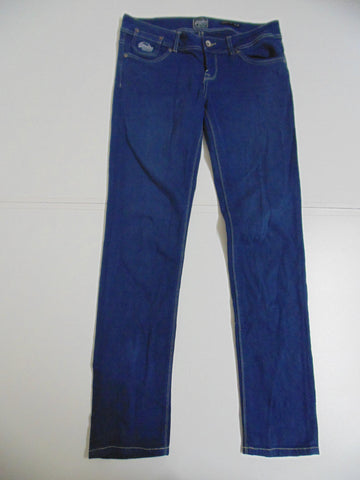 "Superdry blue cotton stretch jeans size 14, waist 32"" ladies Cigarette slim DLB2546"