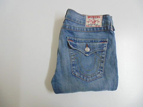 "True Religion Billy blue denim jeans size 12, waist 31"" Ladies DLB2511"