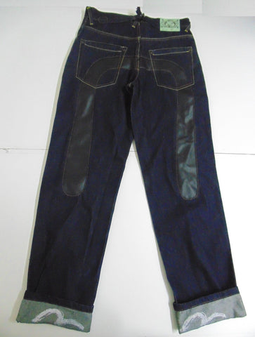 "Evisu indigo denim jeans W 30"" x L 34"" mens LOT 0454 DLB258-Classic Clothing Crib"