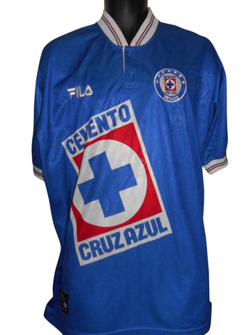 Deportivo Cruz Azul 1997-98 Home shirt XL Mens #S711.-Classic Clothing Crib
