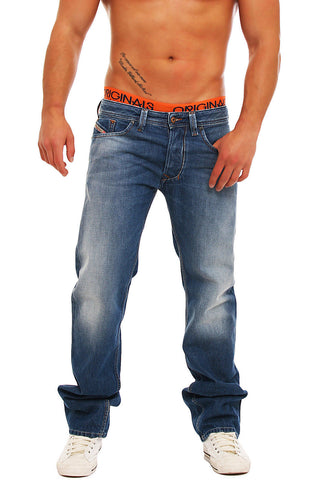 Diesel Larkee blue jeans mens regular straight 0810J