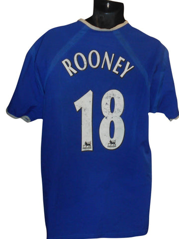 Everton 2003-04 Home shirt Large mens ROONEY 18 #S888.