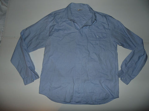 Gianni Versace blue shirt - large mens - S5771-Classic Clothing Crib