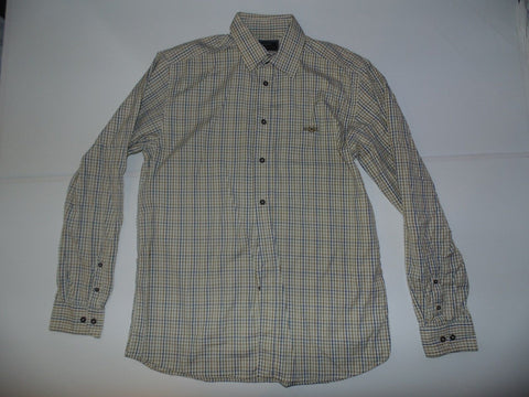 Henri Lloyd brown checks shirt - large mens - S5148-Classic Clothing Crib
