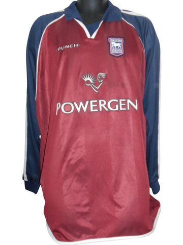 Ipswich Town 2002-04 long sleeves away shirt xxl mens #S653.