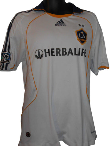 LA Galaxy 2009-10 Home players shirt Large Mens #S300.