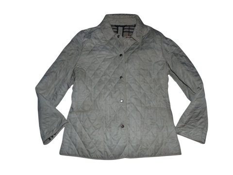 Ladies Burberry beige quilted jacket / coat Large - VSE102