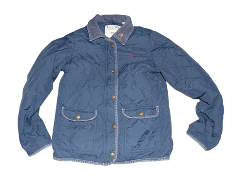 Ladies Jack Wills Cordings blue quilted jacket - size 10 UK coat - VSI104