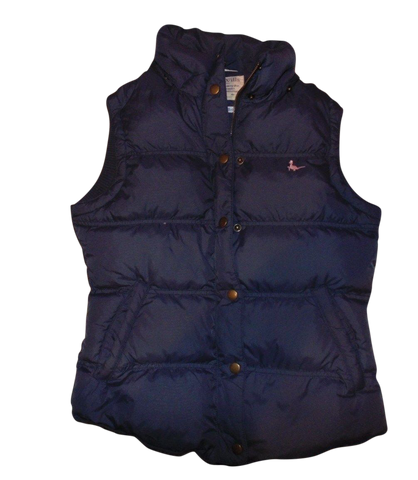 Ladies Jack Wills blue quilted puffer gilet bodywarmer jacket - size 8 - VSJ103