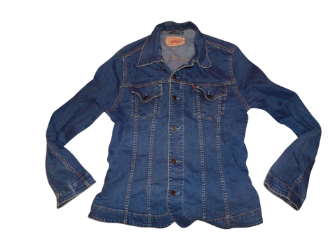 Ladies Levi's 73580 87 dark blue denim jacket - Large - VSJ105-Classic Clothing Crib