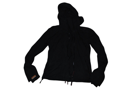 Ladies Superdry black windcheater jacket Small - VSA108-Classic Clothing Crib