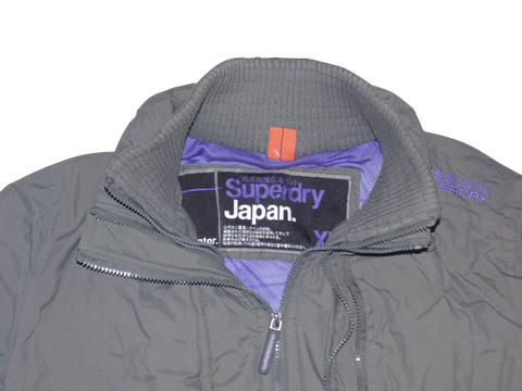 Ladies Superdry dark grey windcheater jacket XL - VSH109-Classic Clothing Crib