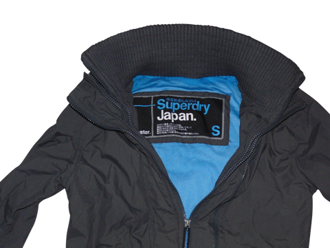 Ladies Superdry dark grey windcheater jacket small - VSH107-Classic Clothing Crib
