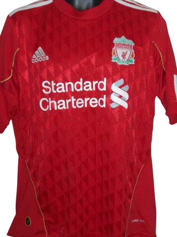 Liverpool 2010-12 home shirt medium mens #S858.