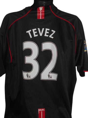Manchester United 2007-08 away shirt XXL mens TEVEZ 32 #S32.