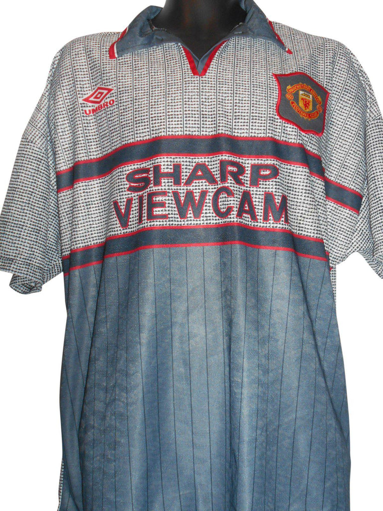 newest collection 0ed4d b56fe Manchester United 1995-96 away shirt XL mens #S58.