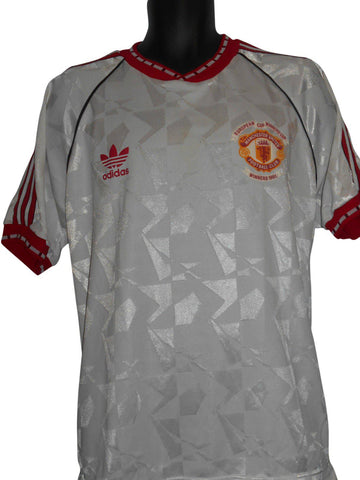 Manchester United 1990-91 European Cup Winners away shirt Large mens #S211.