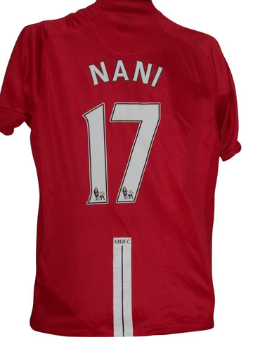 Manchester United 2007-08 home shirt medium mens NANI 17 #S649.