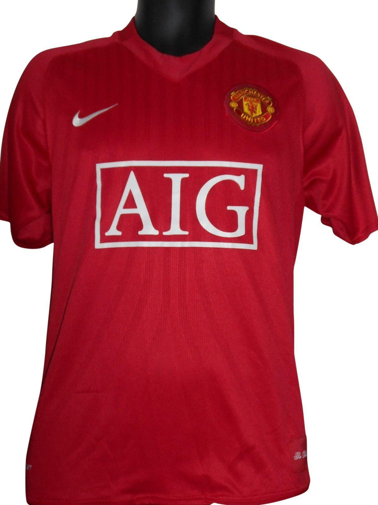 online store 5acaa 80de0 Manchester United 2007-08 home shirt medium mens NANI 17 #S649.