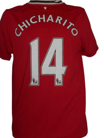 Manchester United 2011-12 home shirt small mens CHICHARTIO 14 #S243.