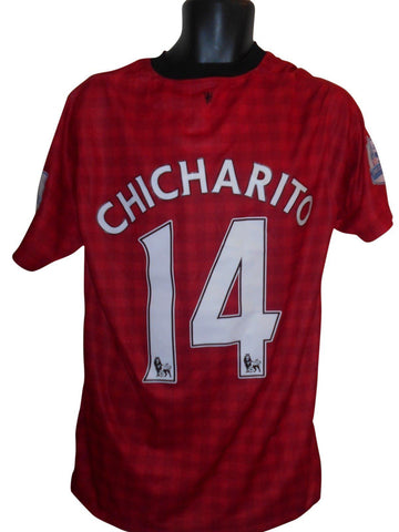 Manchester United 2012-13 home shirt XL mens CHICHARITO 14 #S887.