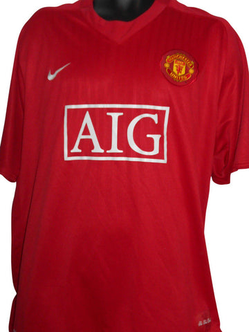 Manchester United Home Football Shirt Jersey (2007/2009) 3xl men's #29-Classic Clothing Crib