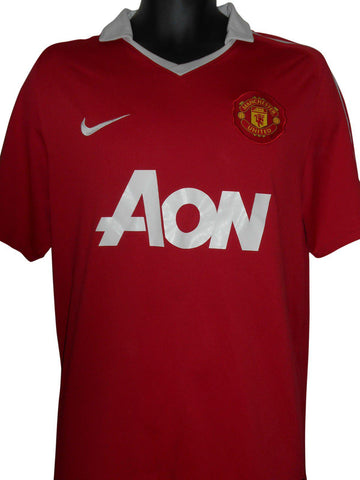 Manchester United 2010-11 home shirt Large mens #S401.