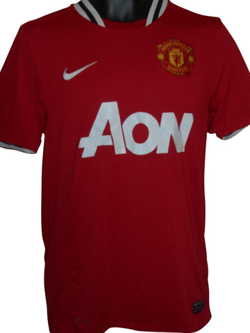 Manchester United 2011-12 home shirt Small mens #S831.