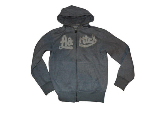 Mens Abercrombie & Fitch grey zip hoodie, sweatshirt medium - VSC169-Classic Clothing Crib