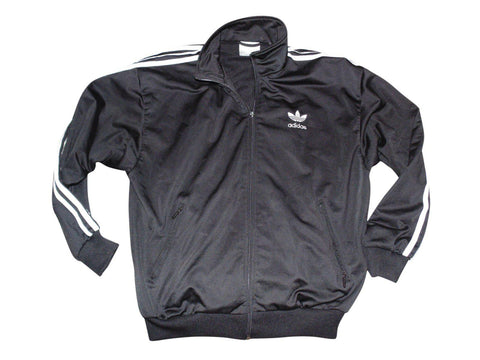 Mens Adidas black zip jacket trefoil D4 F168 small firebrand VCG - VS193