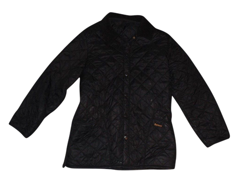 Mens Barbour Liddesdale black quilted puffer winter coat - jacket large D364 VSG115-Classic Clothing Crib