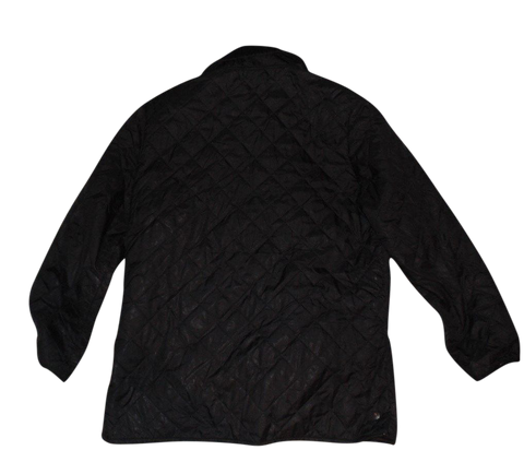 Mens Barbour black quilted winter coat - jacket large - VSG113-Classic Clothing Crib