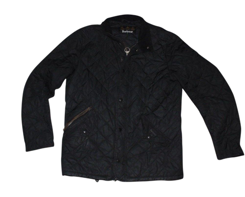 Mens Barbour black quilted winter coat - jacket medium - VSG114-Classic Clothing Crib