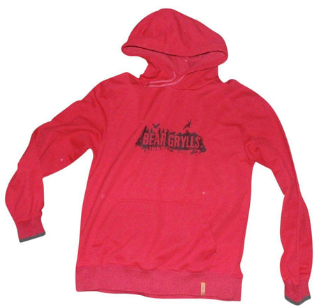 Mens Bear Grylls Craghoppers red hoodie medium Sweatshirt - VSA166-Classic Clothing Crib